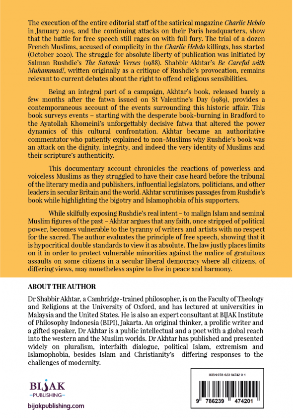 Ebook Back cover of Be Careful with Muhammad! Salman Rushdie and the Battle for Free Speech